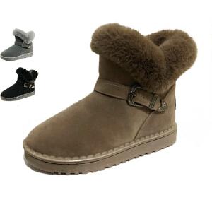 WARORWAR新品YM155-1801冬季欧美平底舒适女士雪地靴