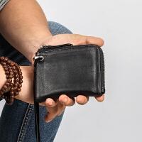 男款零钱包拉链男士卡包牛皮硬币包手腕软皮短款女款时尚简约