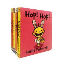 #小豆豆英文童书 小毛孩节日互动4册合售 一根毛小脏孩系列 知名绘本作家Leslie Patricelli 宝宝生活常识