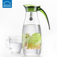 乐扣乐扣冷水壶塑料家用水瓶大容量凉水壶耐热透明带盖客厅果汁壶【1.2L】