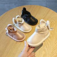 儿童雪地靴冬季1-3岁女宝宝棉鞋婴儿小公主加绒软底学步鞋子0一2