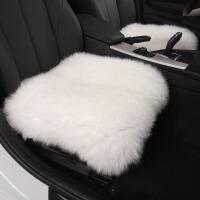 冬季羊毛汽车坐垫毛绒三件套皮毛一体单片毛垫通用座垫后排无靠背