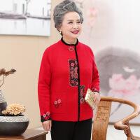 老年人女装春秋开衫毛衣羊毛衫60-70岁奶奶婚宴外套妈妈衣服唐装