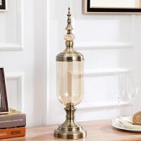 欧式餐桌家居玻璃花瓶插花客厅电视柜摆件仿真花艺美式装饰摆设品