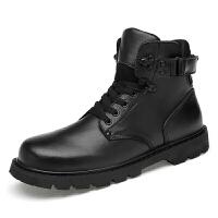 冬季纯羊皮毛一体棉靴雪地靴保暖加绒男棉皮鞋加厚防寒靴防滑