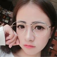 2018新款防护目辐射眼镜男女蓝光平面无度数圆框复古素颜电脑近视眼睛