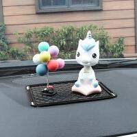 汽车饰品可爱树脂小马仪表台装饰摆设车载创意可爱女摆件内饰礼物