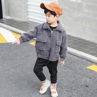 男童棉衣外套2018冬装新款儿童休闲棉袄宝宝保暖羊羔绒韩版潮