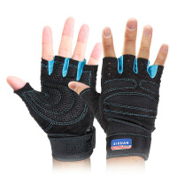 男士运动手套 哑铃训练护手套 2只装正品护手掌健身手套 透气 防滑 防护