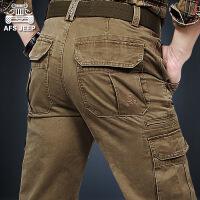 AFS JEEP工装裤男长裤军装男士加肥加大码战地吉普休闲裤9123