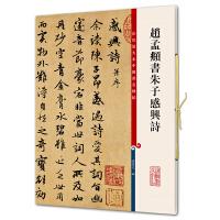 赵孟�\书朱子感兴诗(彩色放大本中国著名碑帖・第五集)