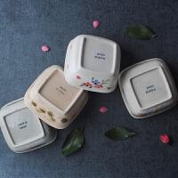 日式餐具四方碗陶瓷碗 汤碗面碗 沙拉碗 拉面碗 茶色T-56A