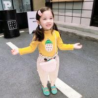 女宝宝加绒打底衫2018新款秋冬装女童装加厚T恤小童高领保暖上衣