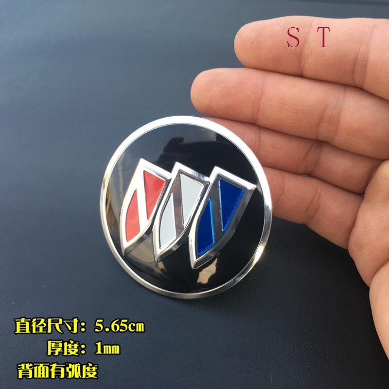 别克新君威君越 威朗 英朗XT 轮毂中心盖改装标 方向套贴5.65cm