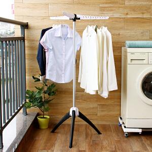 【领券满188减100】ORZ 可折叠时尚家用晾衣架 简易落地挂衣架室内室外晒衣架子