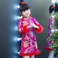 女童旗袍秋新年装2018新款冬女儿童拜年服宝宝唐装长袖加厚中国风