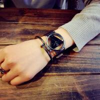 韩国创意原宿手表男女学生韩版简约复古风休闲情侣手表一对生日七夕情人节礼物