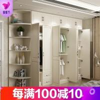 衣柜简约现代经济型欧式整体2 3 家具实木质卧室大衣橱