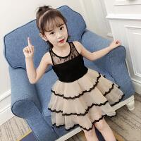 女童洋气裙子夏季新款韩版时尚纱裙女孩公主裙夏装儿童连衣裙