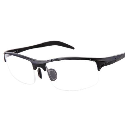 新款运动款眼镜框男士平光配近视老花眼镜铝镁商务半框光学眼镜架  配1 74凯米镜片 发货周期:一般在付款后2-90天左右发货,具体发货时间请以与客服协商的时间为准