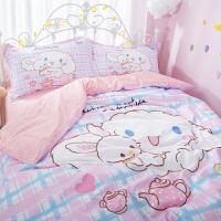 可爱日系软萌少女床品卡通玉桂狗四件套床上用品大耳狗被子棉质