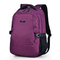 时尚双肩包女休闲背包男电脑包大学生书包旅游包大容量旅行包 紫色加大版