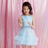 【2件1.5折价:50.9,可叠券】moomoo童装女童简约梭织网纱连衣裙