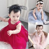 婴童装女宝宝连衣裙子背心裙夏婴儿裙子公主裙夏装