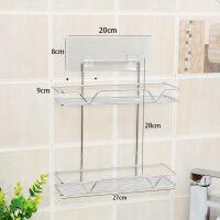 卫生间置物架壁挂浴室厕所洗手间洗漱台收纳用品吸盘式免打孔
