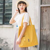 女包包2018新款韩版时尚潮帆布包文艺百搭小清新手提包单肩包大包