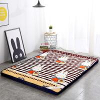 珊瑚绒加厚床垫可折叠榻榻米 席梦思床垫海绵垫子双人学生褥子0.9