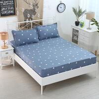 床笠单件床罩席梦思保护套卡通床套1.5m1.8m2.0纯白色布防滑防尘