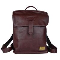 韩版时尚潮流皮包双肩包男士休闲旅行包小背包女包学院风学生书包