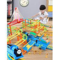 糖米 电动拖马斯小火车套装轨道赛车玩具儿童汽车5男孩3-4岁6礼物