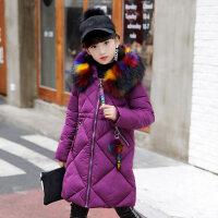 女童棉衣外套中长款儿童冬装五4六5七6八7九8十9到12岁小女孩棉袄