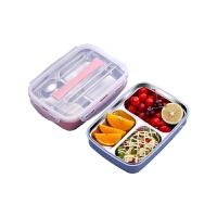 饭盒便当小学生带盖餐盘分格304不锈钢食堂简约儿童
