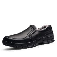 男士新款真皮老人鞋加绒保暖户外鞋大码棉鞋防滑休闲鞋