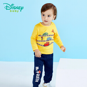 迪士尼Disney 儿童套装春秋新款纯棉男宝宝闪电麦昆运动休闲套装181T740