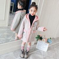 女童9秋冬外套2018新款小女孩5洋气时髦上衣儿童7岁韩版加厚潮衣