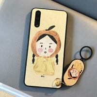 华为p2pro卡通手机壳p1plus可爱插画保护套nova2s网红荣耀v1新