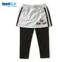 天美意teenmix童装女童裙裤2018春季新款儿童卡通休闲时尚短裤运动裤 CZ0059