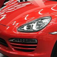 电光金属灰汽车改色膜全车身亚光改装贴膜整车哑光电镀银贴纸幻彩 红色 亮金属中国红