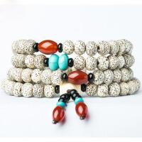 星月菩提子佛珠手链108颗手串 顺白颗颗正月菩提子情侣款手链