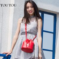 2017新款包包韩版个性水桶包迷你百搭小桶包斜挎包女包夏天小包潮