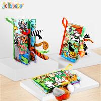 【2件5折】jollybaby立�w尾巴布��早教��核翰��6-12��月����益智玩具0-1�q