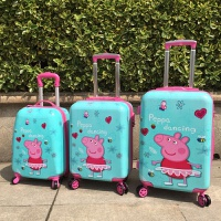 儿童拉杆箱佩奇行李箱旅行箱男女小童16寸18寸万向轮佩佩猪登机箱