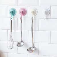 卫生间强力真空吸盘挂钩厨房门口吸壁式玻璃壁挂免打孔承重粘钩