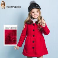 【3件3折价:179.7元】暇步士童装冬季新款女童厚风衣外套时尚甜美保暖简洁加绒厚风衣外套儿童厚风衣外套