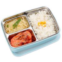 儿童分隔餐盘不锈钢学生便当盒饭盒分格套装保温带盖