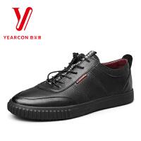 意尔康男鞋秋季新款男士单鞋深口鞋小黑鞋
